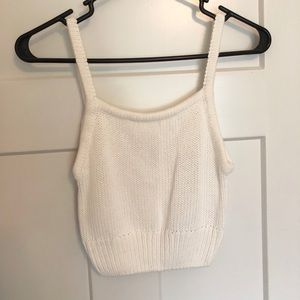 Tops - NWT Cropped Knit Tank